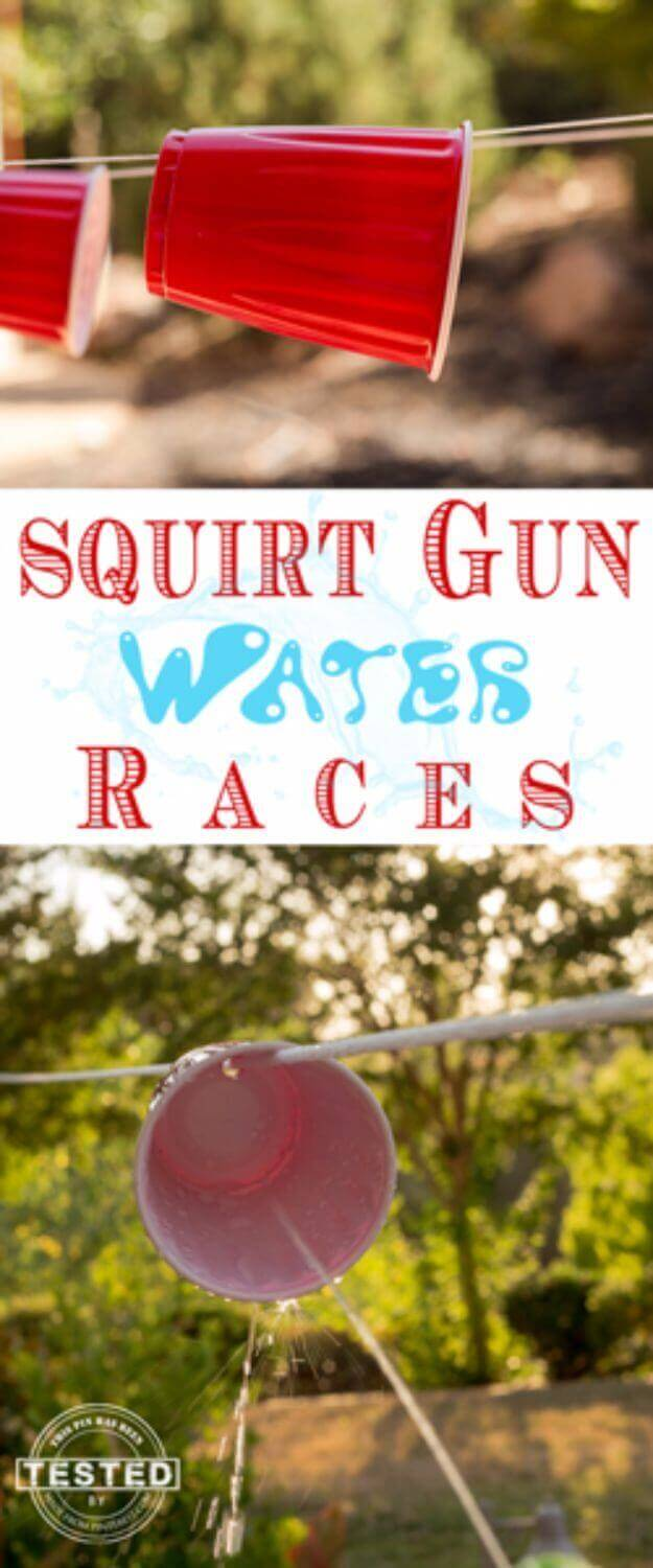 Inexpensive Squirt Gun Race Game