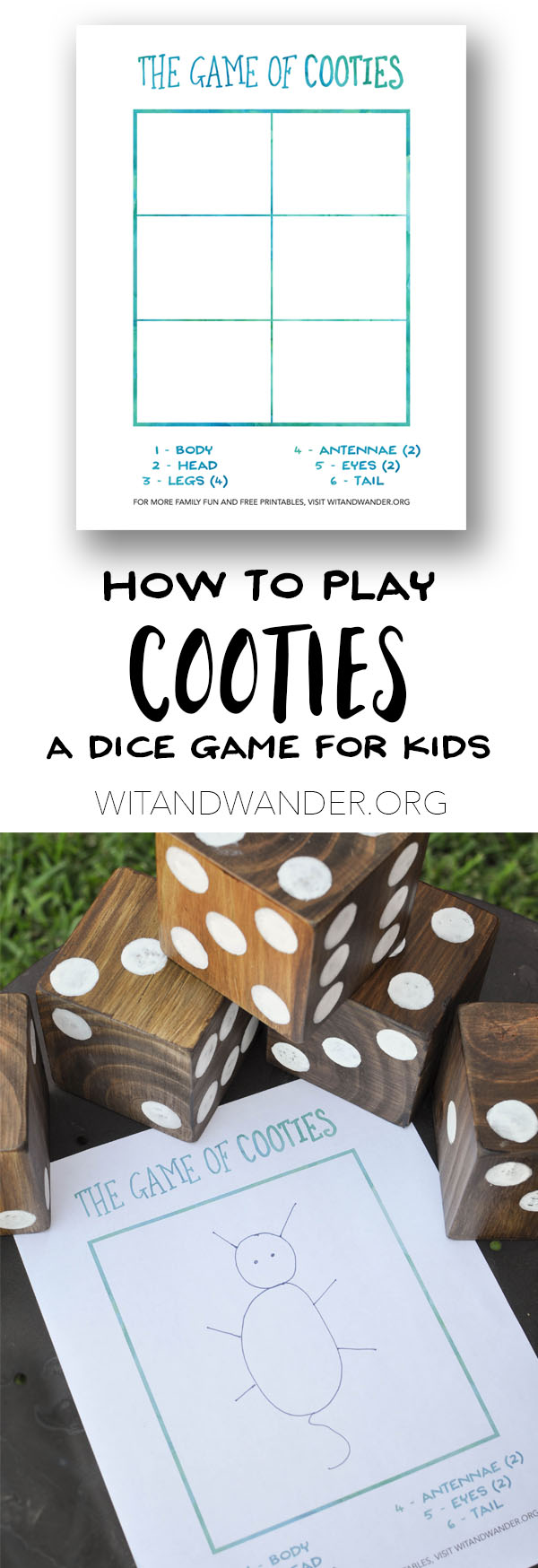 DIY Backyard Games and Free Printable Cooties Game