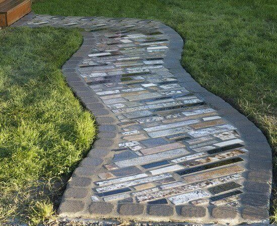 Recycled Granite Garden Path