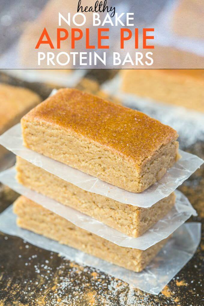 NO BAKE APPLE PIE PROTEIN BARS