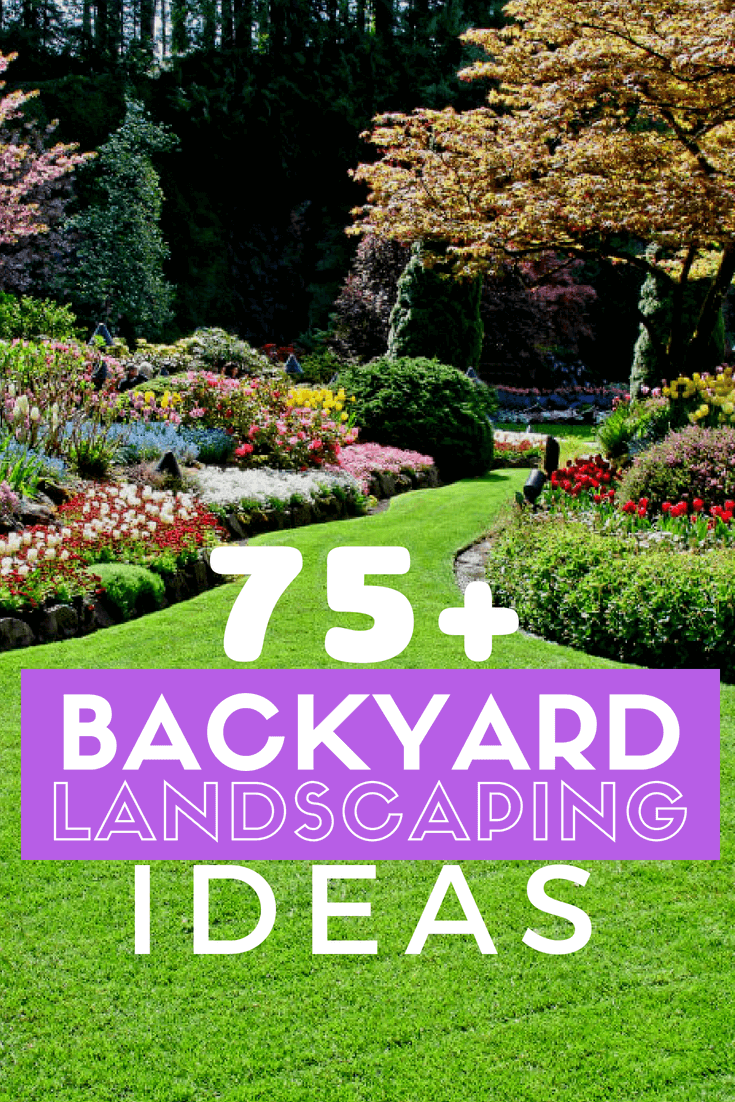Looking for backyard landscaping ideas? Check out 75+ Stunning Backyard Landscaping Ideas to get inspired to make your backyard even better. #backyardideas #landscaping #farmfoodfamily