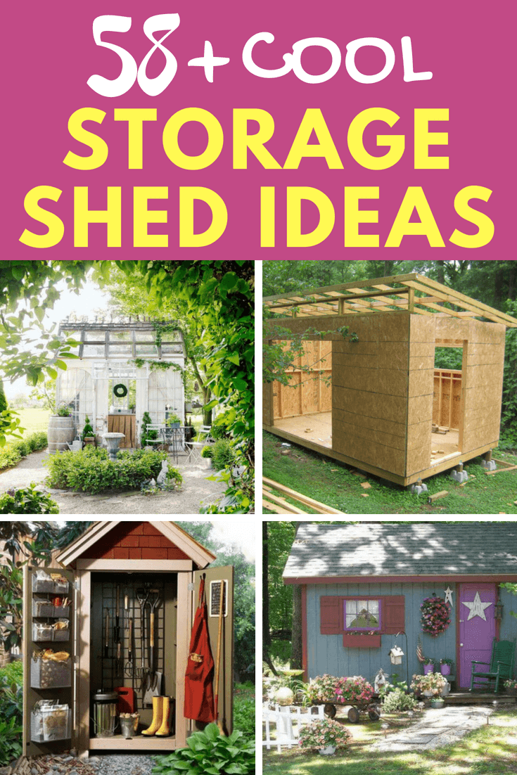 Looking for a storage shed idea for your garden? In this post, I will show you 58+ cool storage shed ideas that you can make your own. #storageshed #gardenideas #farmfoodfamily