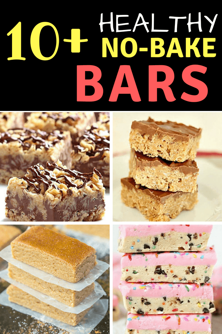 Over 10 of the Best No-Bake Bars Desserts - no oven needed for these dessert recipes, including pies, parfaits, dips, ice cream, popsicles, bars, and more! #desserts #dessertrecipe #nobakedessert #nobake #nobakebars