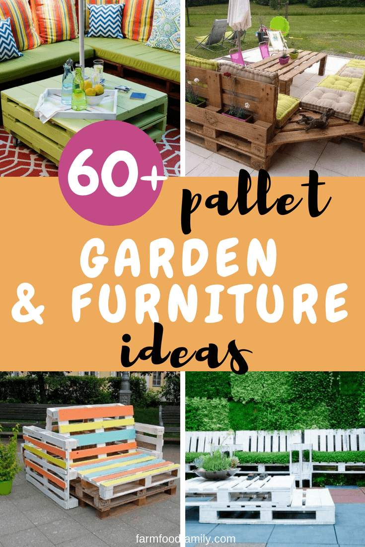 In this article, we will checkout 60+ different pallet garden and furniture ideas that will help you extend your space into the backyard.