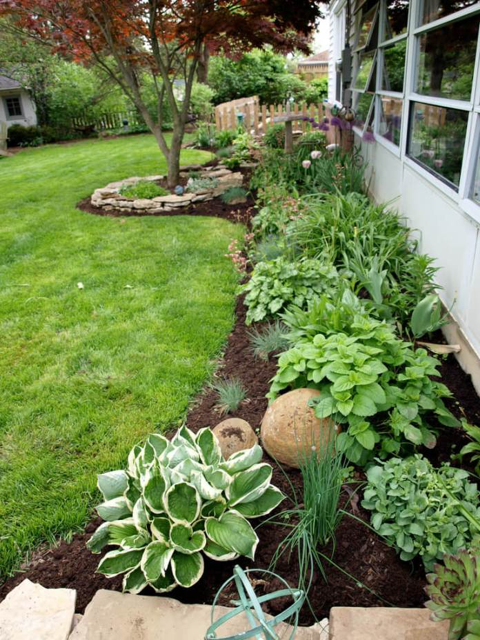 Flower Bed Ideas: Side Yard Plant, Flower, and Herb Garden