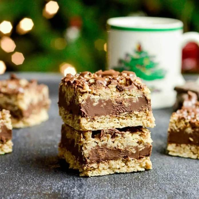 No-Bake Chocolate Peanut Butter Oat Bars