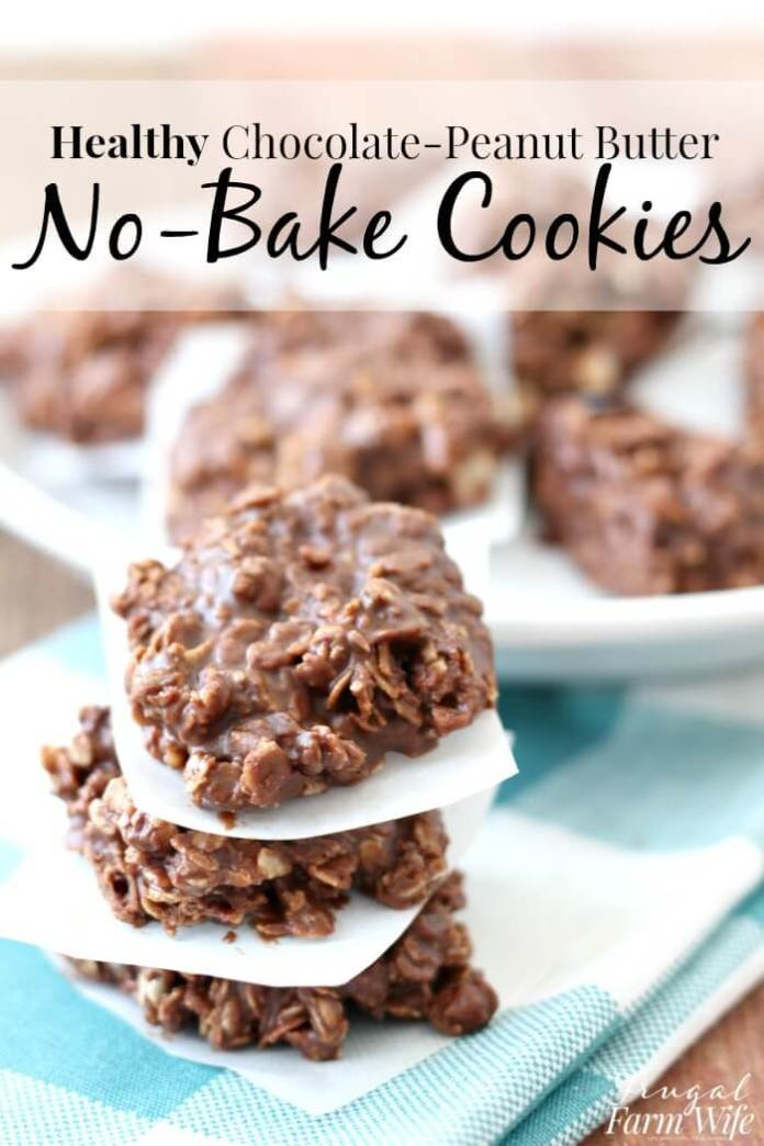 Healthy No-Bake Chocolate-Peanut Butter Cookies