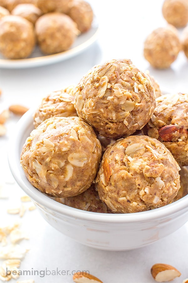 No Bake Almond Butter Coconut Bites