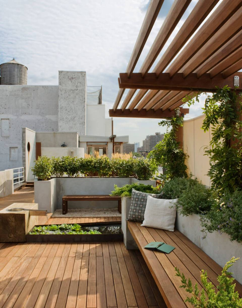 DIY Pergola Ideas: Urban Escape Rooftop Pergola
