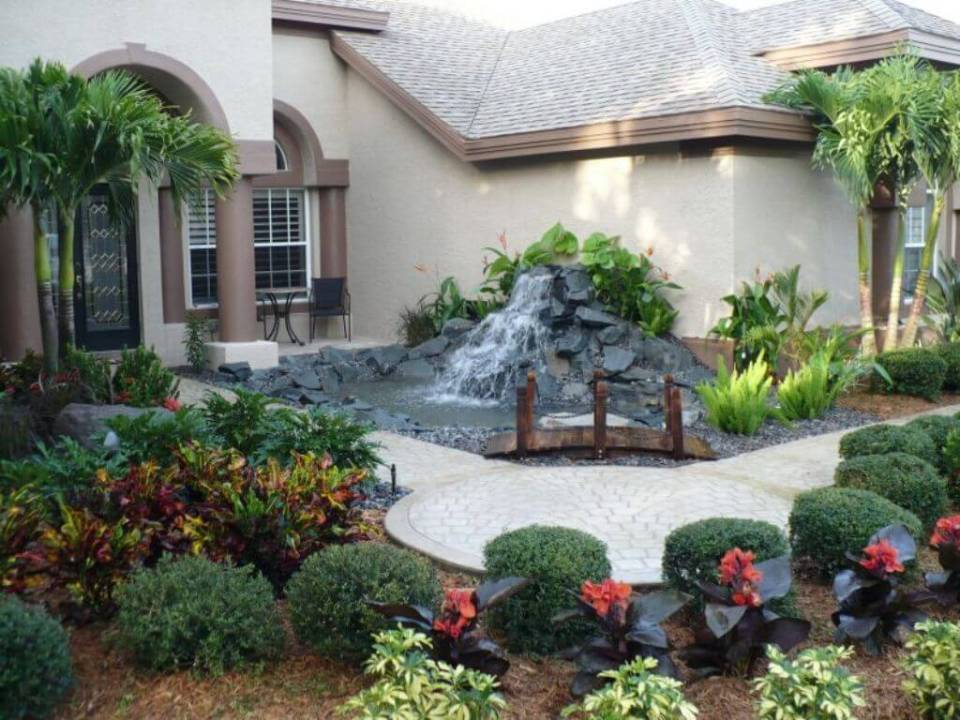 Showy Subtropical Water Feature