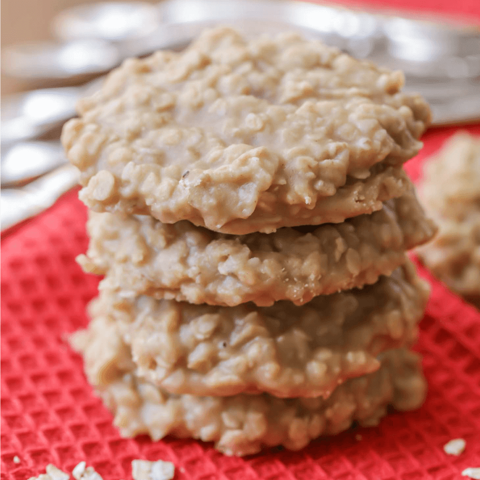 Peanut Butter No Bake Cookies Combined To Cookie Classics