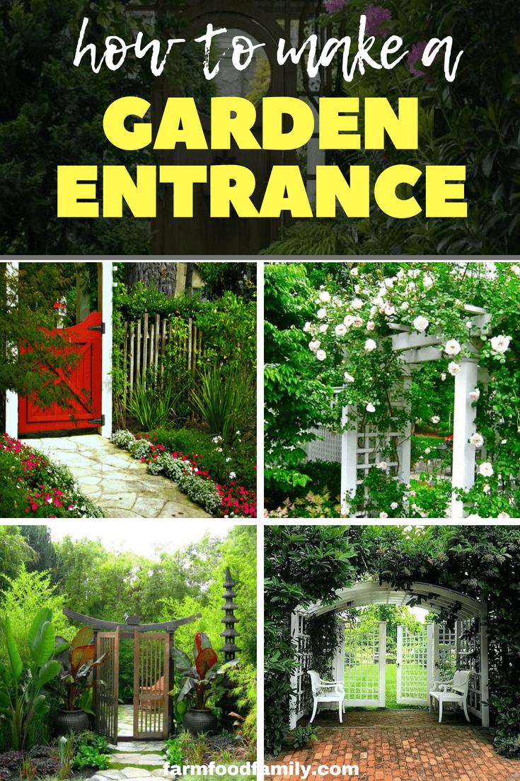 As well as creating a warm and inviting welcome, a garden entrance can segment a space into garden rooms or highlight a focal point like a statue or piece of garden art. It can frame a space and paint a picture in broad brush strokes or in precise and vivide detail. #garden #gardeningtips #entrance #farmfoodfamily