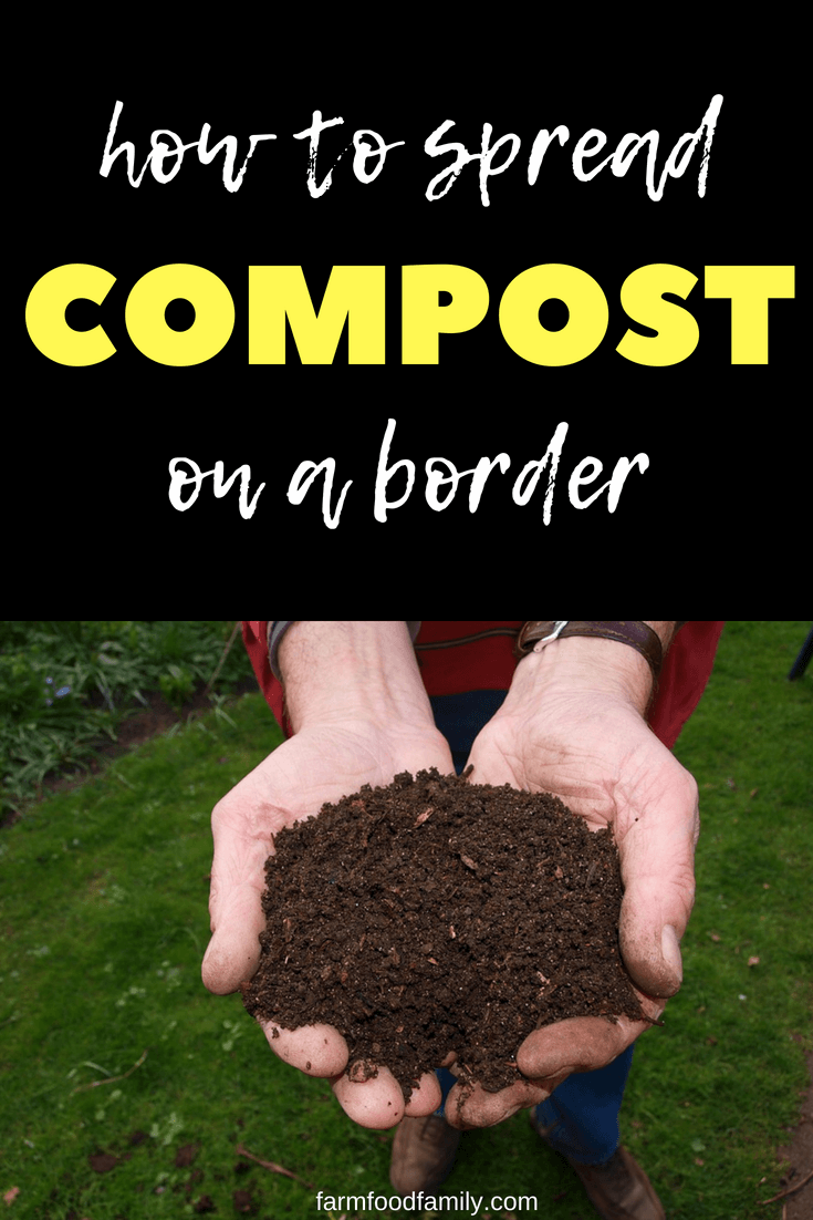 Spread compost over the beds – it will break down and be taken into the soil by worms. #gardeningtips #garden #compost #farmfoodfamily