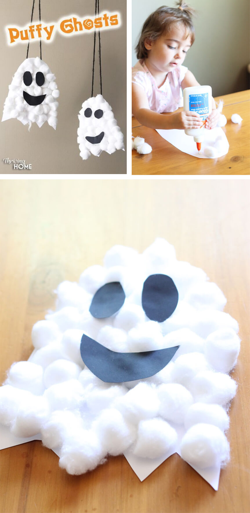 Friendly Cotton Ball Halloween Crafts | Fun & Creative DIY Halloween Crafts for Kids