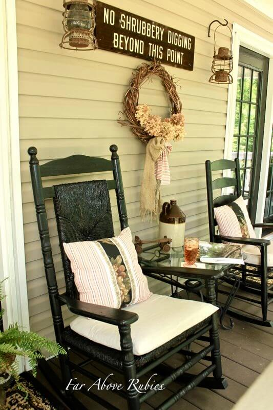Rock Me Mama Country Assemblage | Vintage Porch Decor Ideas