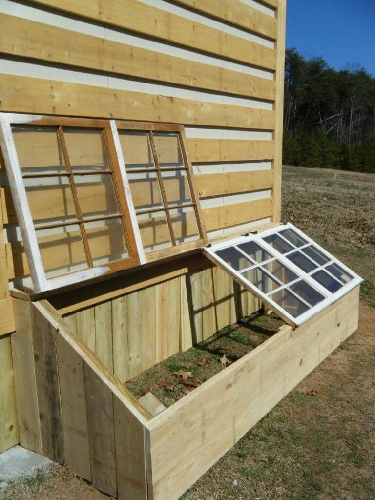 A Garden Space with a Windowed Top | Build a beautiful outdoor greenhouse | Creative Greenhouse DIY plans