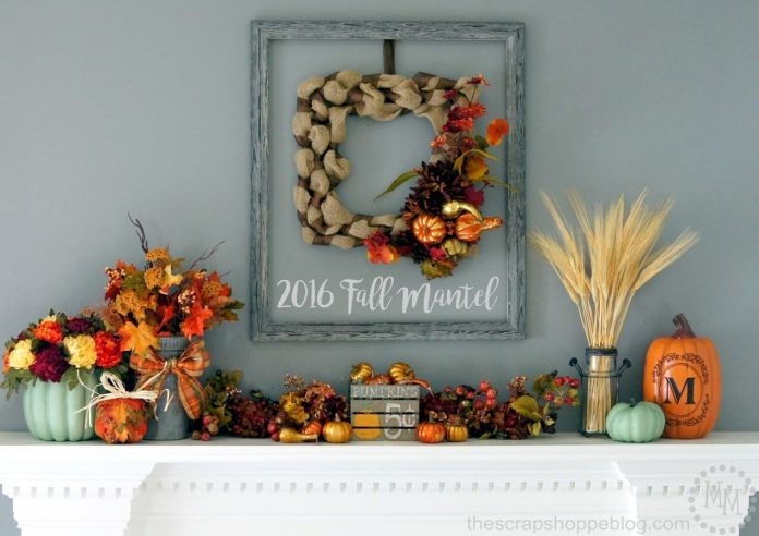 The Colors of Fall Fill your Home | Fall Mantel Decorating Ideas For Halloween