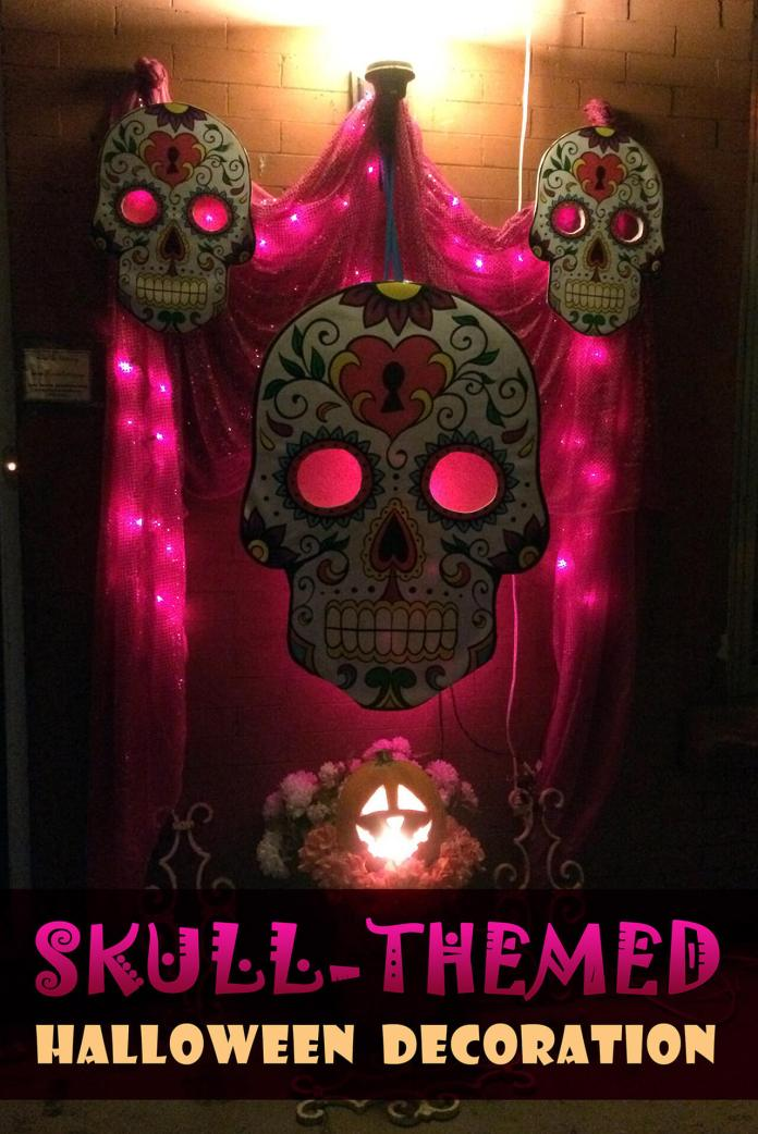 Scary Eyes in Skulls | Scary DIY Halloween Porch Decoration Ideas | vintage halloween porch