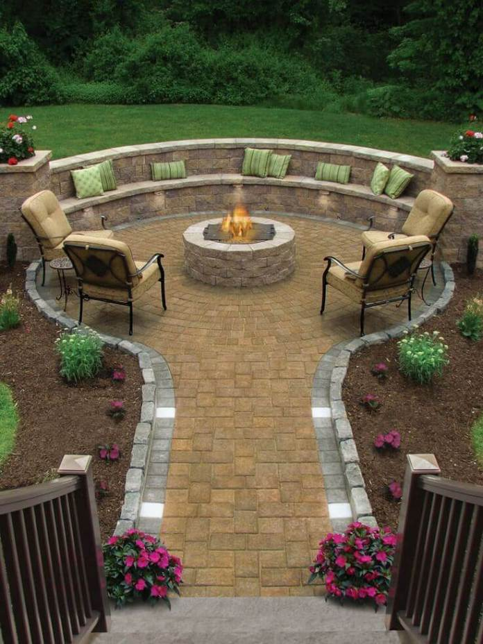 Garden Path Leading to a Fire Hole | Awesome Firepit Area Ideas For Your Outdoor Activities