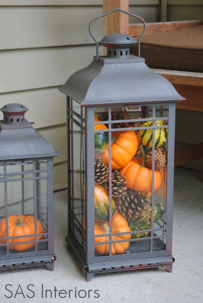 Porch Lamps with a Twist | Fall Porch Decoration Ideas | Porch decor on a budget