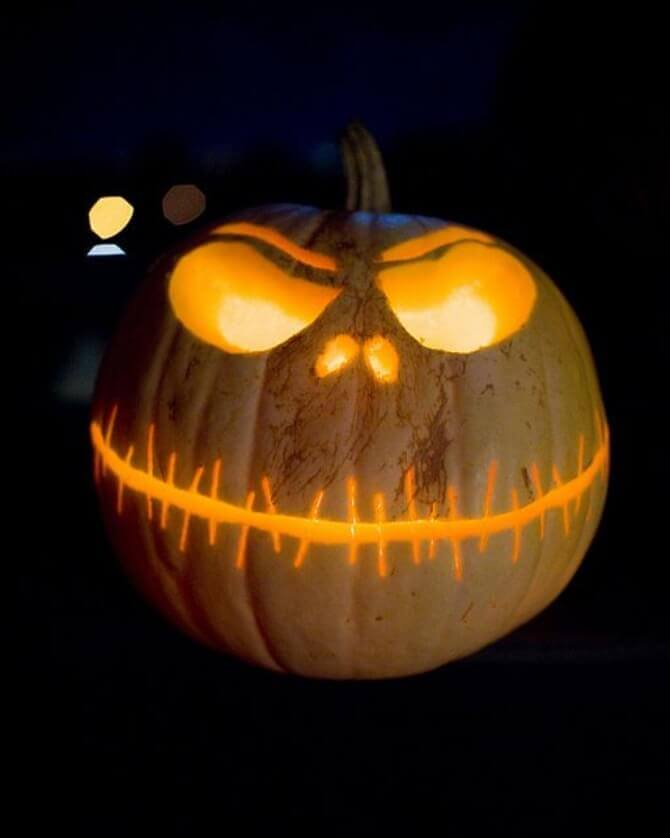 DIY Pumpkin Carving Ideas: Jack Skellington Inspired