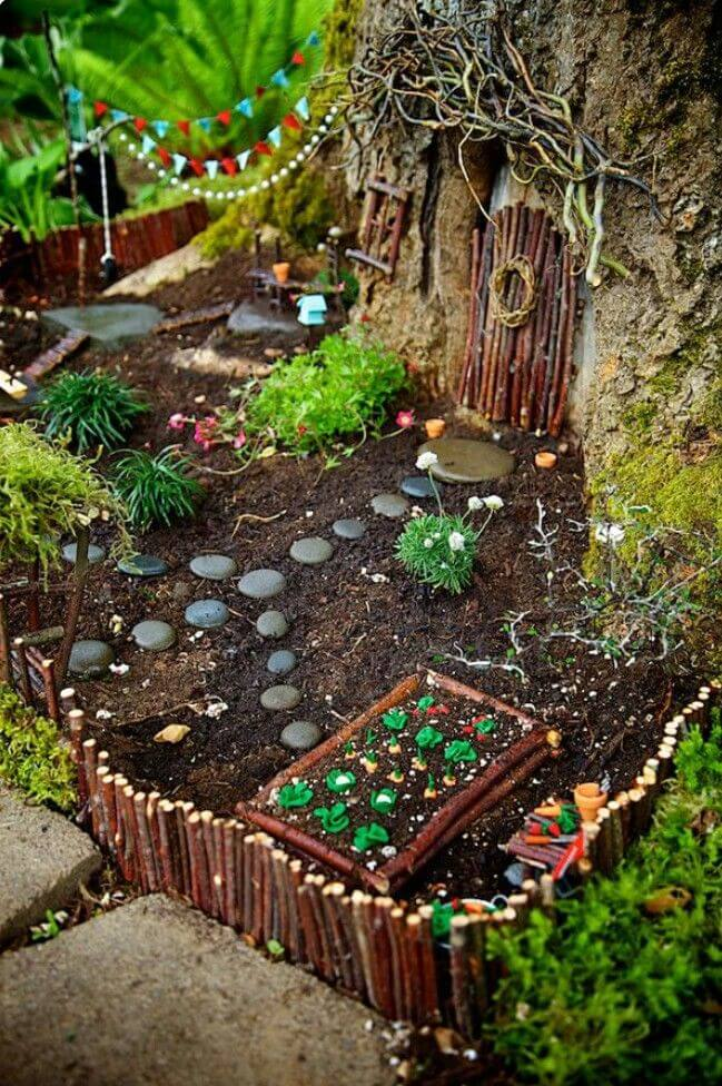 Fairy Neighbor Sidewalk Garden | fairy garden accessories | miniture fairy garden ideas inspiration | homemade fairy garden decorations