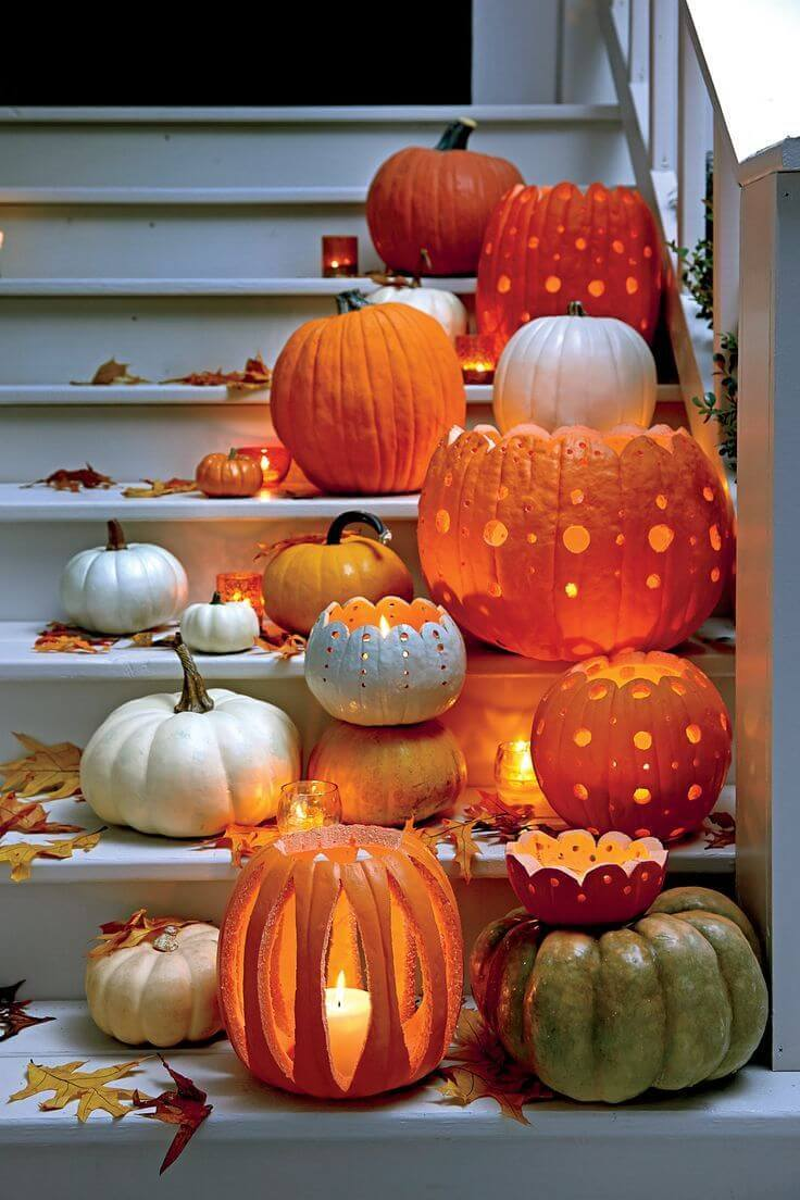 DIY Pumpkin Carving Ideas: Open Top Pumpkin