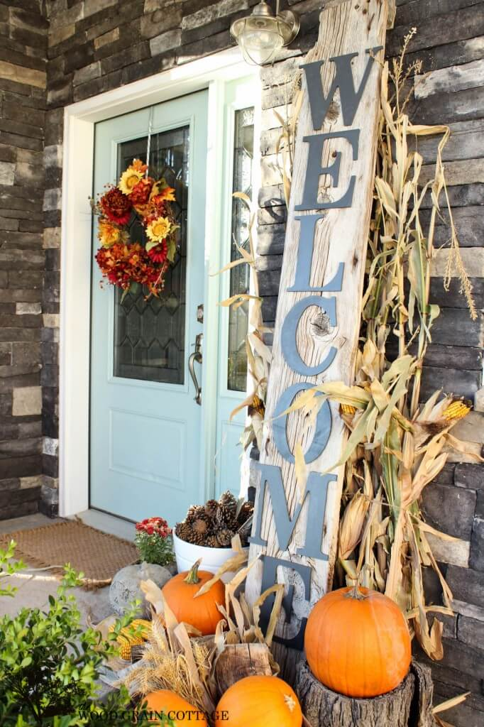 Welcoming in the Season | Fall Porch Decoration Ideas | Porch decor on a budget