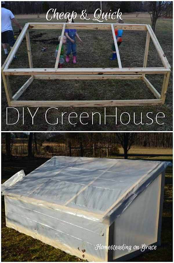 A Rectangular Garden with a Slanted Roof | Build a beautiful outdoor greenhouse | Creative Greenhouse DIY plans