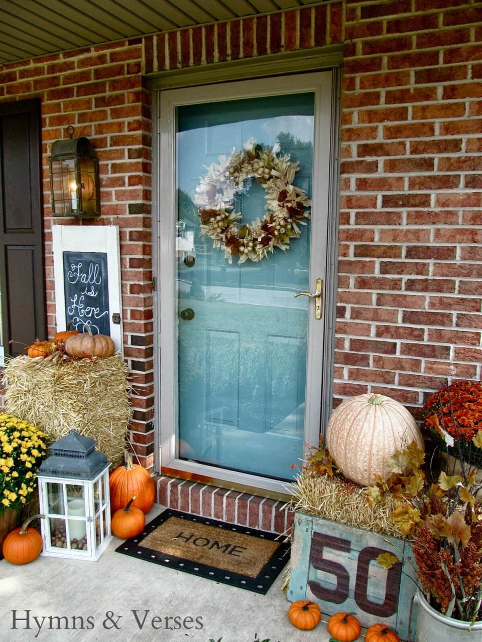 A Classic Take on the Harvest | Fall Porch Decoration Ideas | Porch decor on a budget