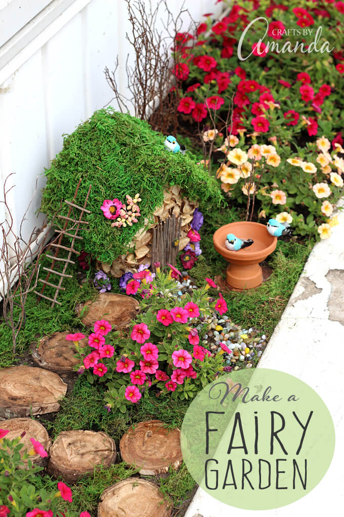 Corner Home DIY Fairy Garden Ideas | fairy garden accessories | miniture fairy garden ideas inspiration | homemade fairy garden decorations