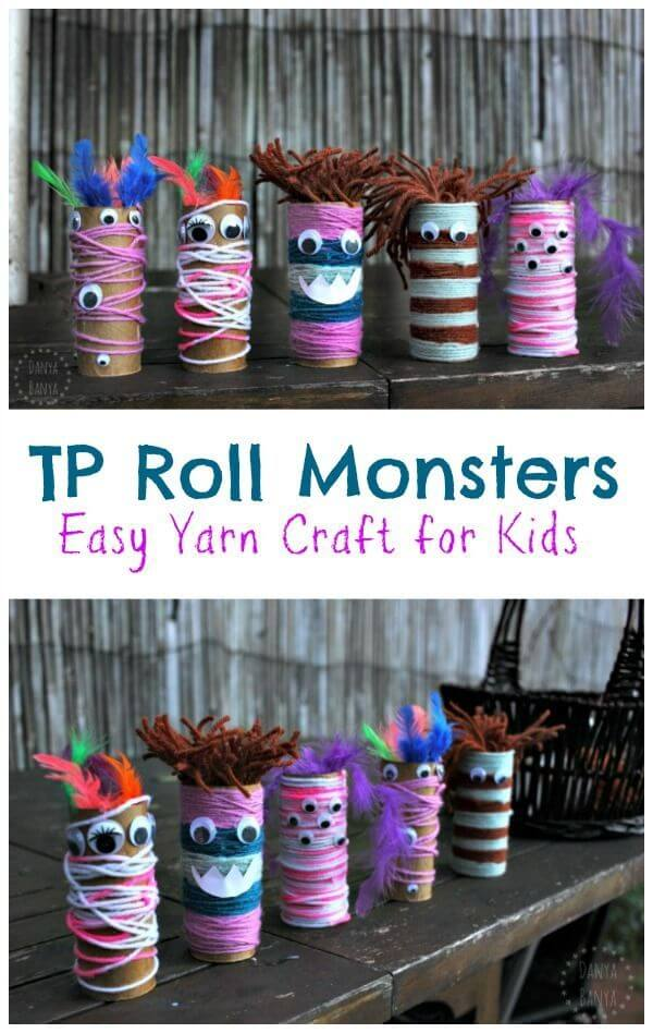 Googly-eyed Toilet-paper Tube Monsters | Fun & Creative DIY Halloween Crafts for Kids