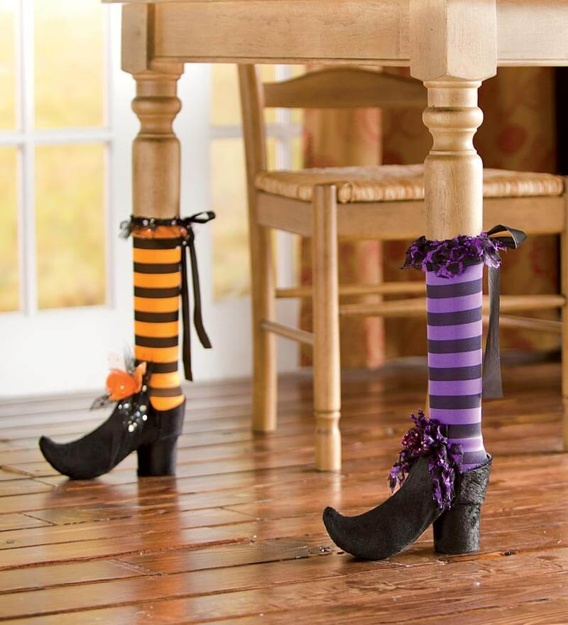 Bewitch Your Dining Room with Table Leg Covers | DIY Indoor Halloween Decorating Ideas