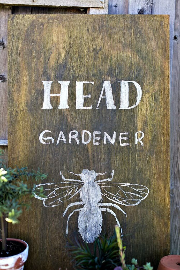Fun Sign Celebrating the Bees | Funny DIY Garden Sign Ideas