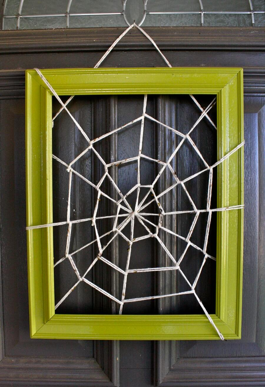 Halloween Front Door Decoration Ideas: Caught in Your Web