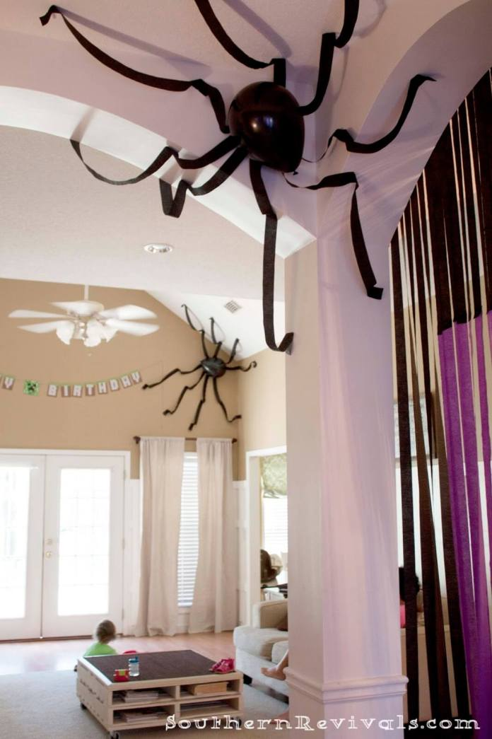 Scary Spiders Make Spooky Rooms | DIY Indoor Halloween Decorating Ideas