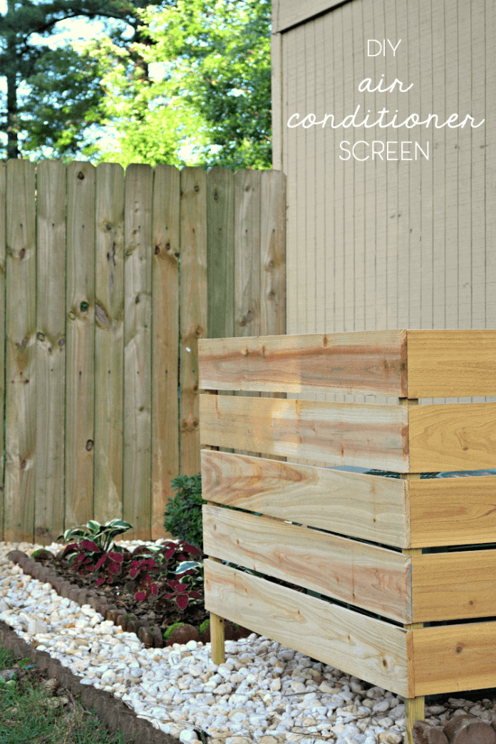 Wooden AC Screens are Easy DIY Projects | Outdoor Eyesore Hiding Ideas