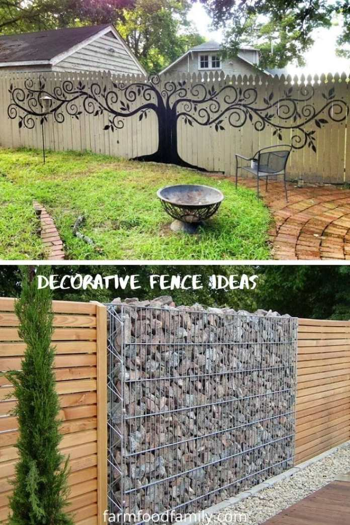 Decorative fence ideas for back and front yard