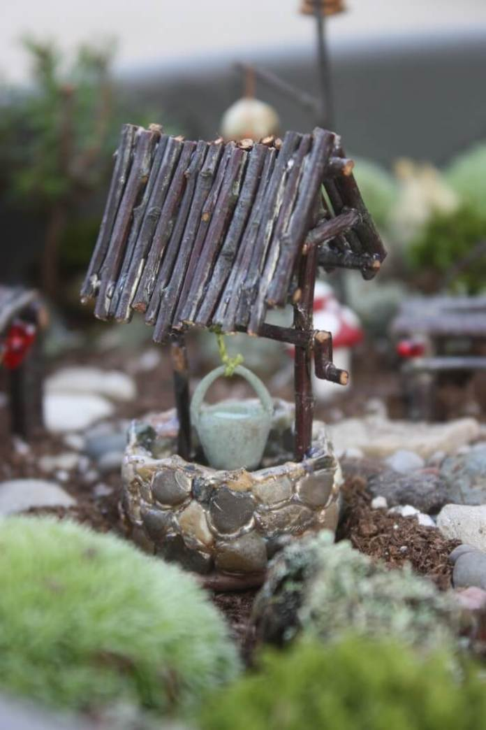 DIY Fairy Tale Fairy Well | fairy garden accessories | miniture fairy garden ideas inspiration | homemade fairy garden decorations