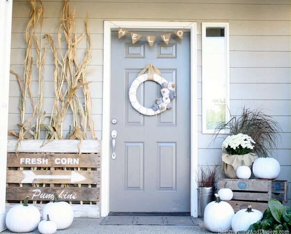 Pumpkins Can be Stylish Too | Fall Porch Decoration Ideas | Porch decor on a budget