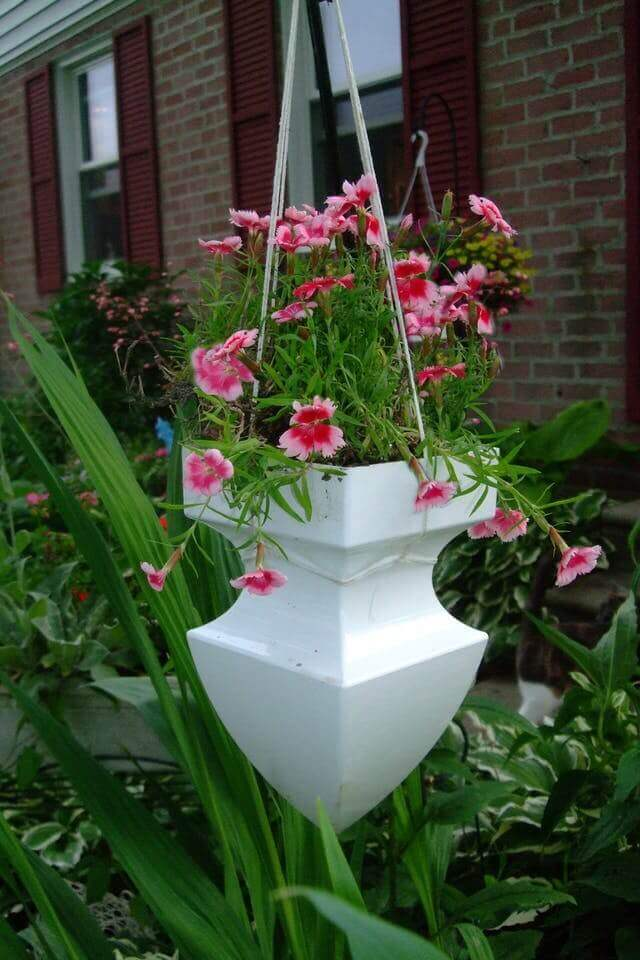 Cleverly Repurposed Architectural Pediment Planter | DIY Outdoor Hanging Planter Ideas | Plant Pot Design Ideas