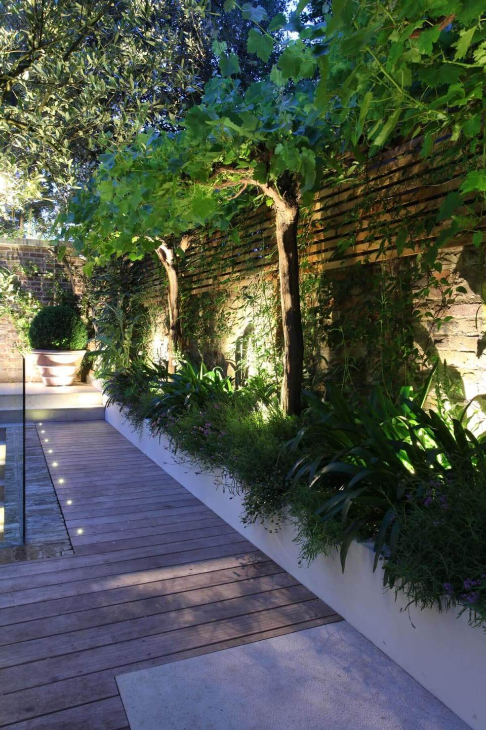 Built-In Deck Planters for Privacy