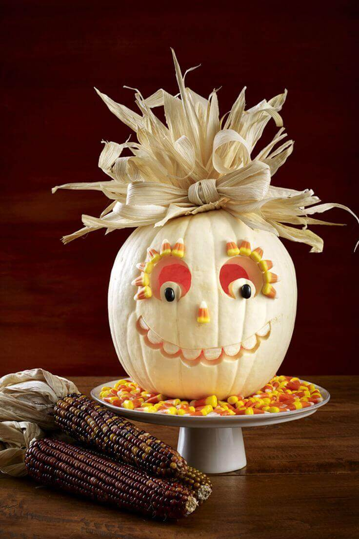 DIY Pumpkin Carving Ideas: Candy Corn Craze