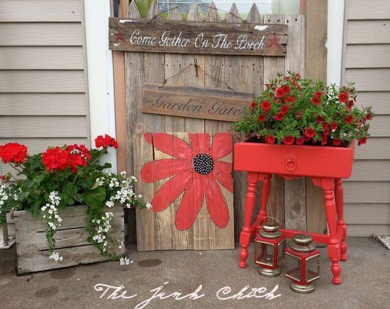 Bring It All Together with Red | Vintage Porch Decor Ideas