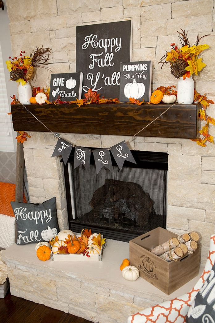Make Your Fall Decor Personal | Fall Mantel Decorating Ideas For Halloween