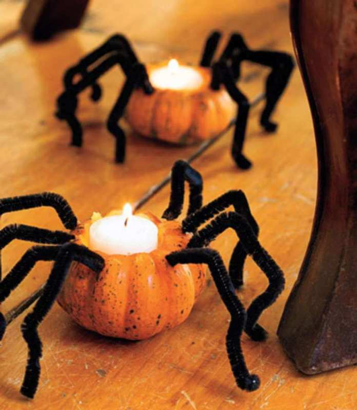 Mini-Pumpkins Can Still Make Jack-O-Lanterns | DIY Indoor Halloween Decorating Ideas