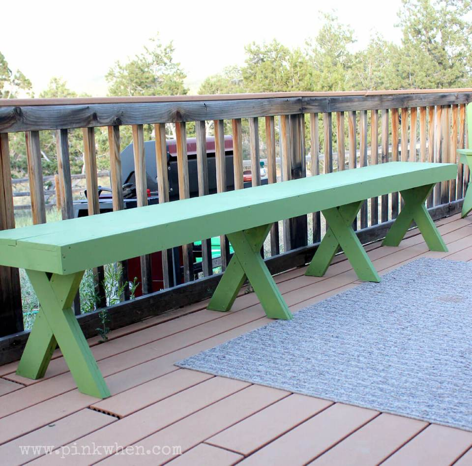 Outdoor DIY Bench Ideas: Picnic and BBQ Style Long Bench