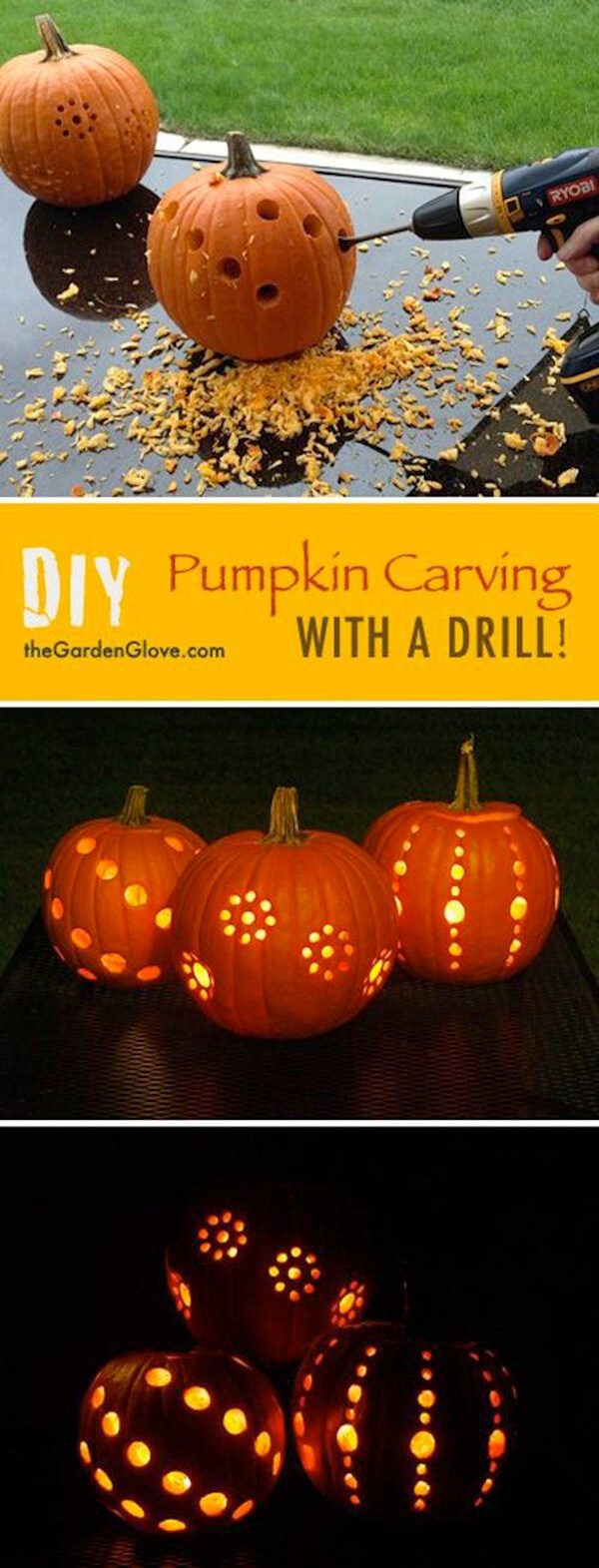 DIY Pumpkin Carving Ideas: More Drilling Ideas