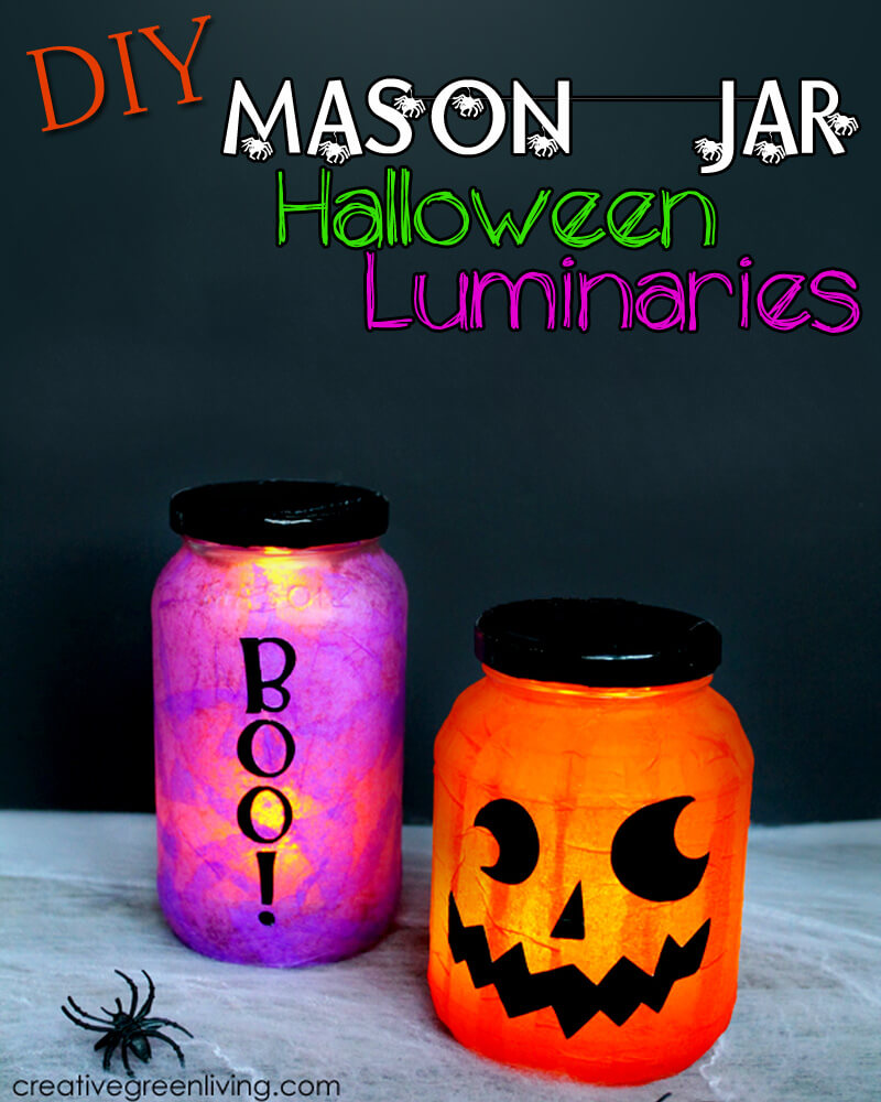 DIY Mason Jar Halloween Crafts: Not-So-Scary Halloween Mason Jar Lanterns
