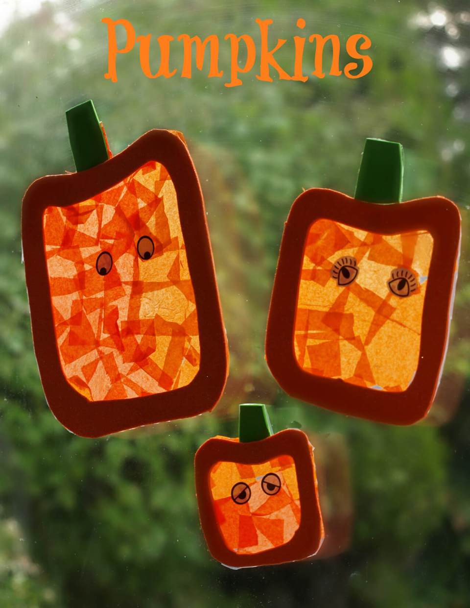 Perfect Pumpkins | DIY Halloween Window Decoration Ideas